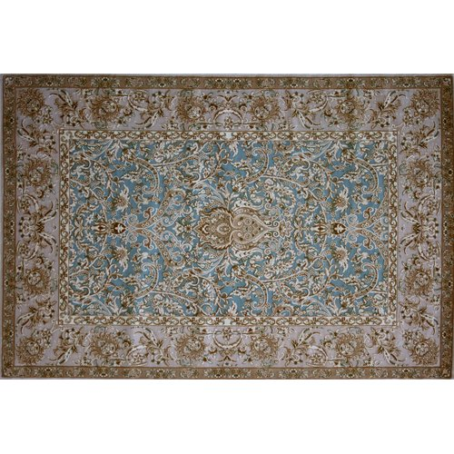 Astoria Grand Montevideo Hand Look Persian Wool Blue/Purple/Brown Area Rug