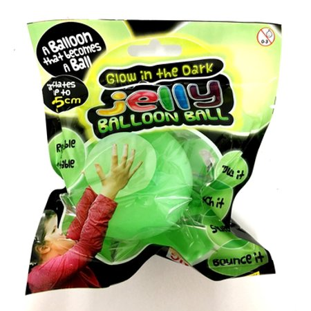 Cp Glow In The Dark Jelly Balloon Squeeze Squishy Boune Ball Inflates up to 10