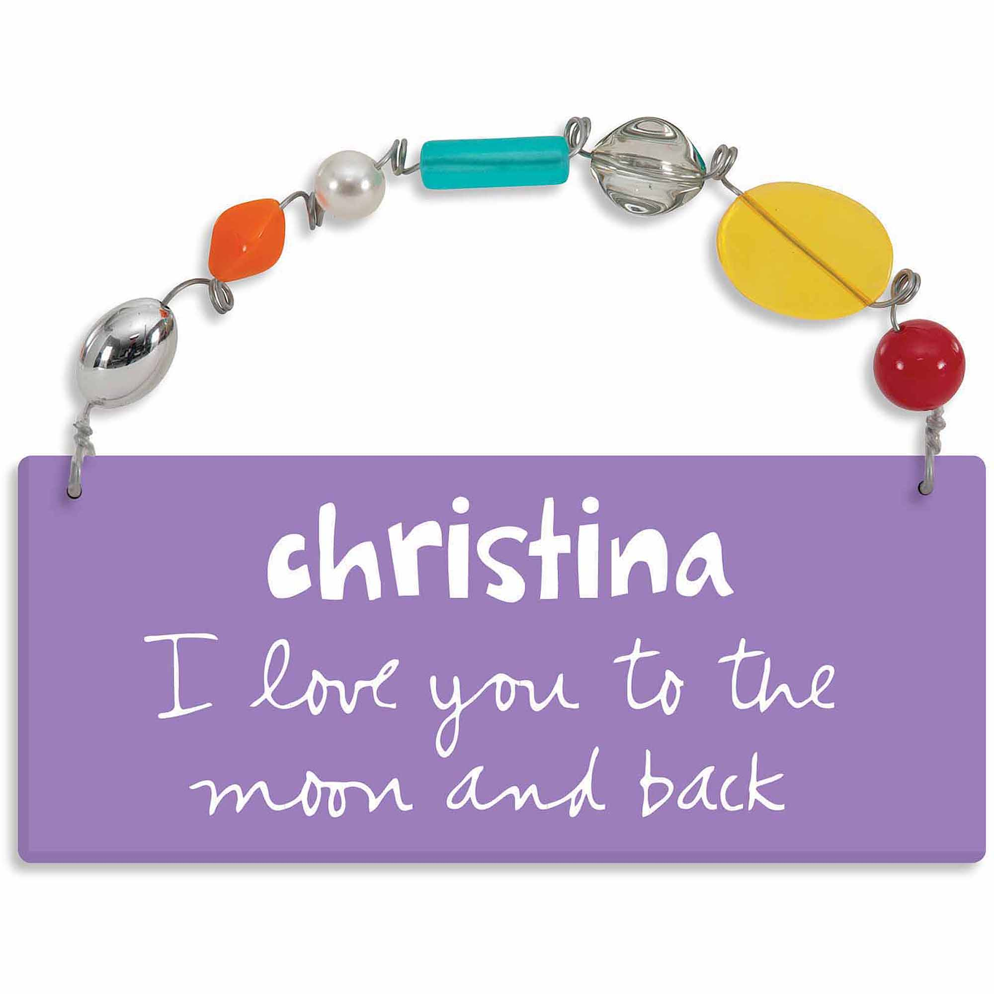Personalized Sandra Magsamen I Love You To The Moon and Back Wall Plaque