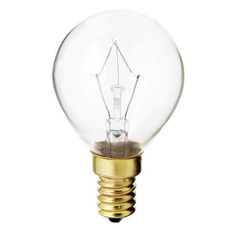 - Satco S3397 40W 130V Globe G14 Clear E14 Base Incand. bulb