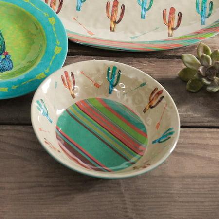 Cactus Design Melamine Bowl Set of 4