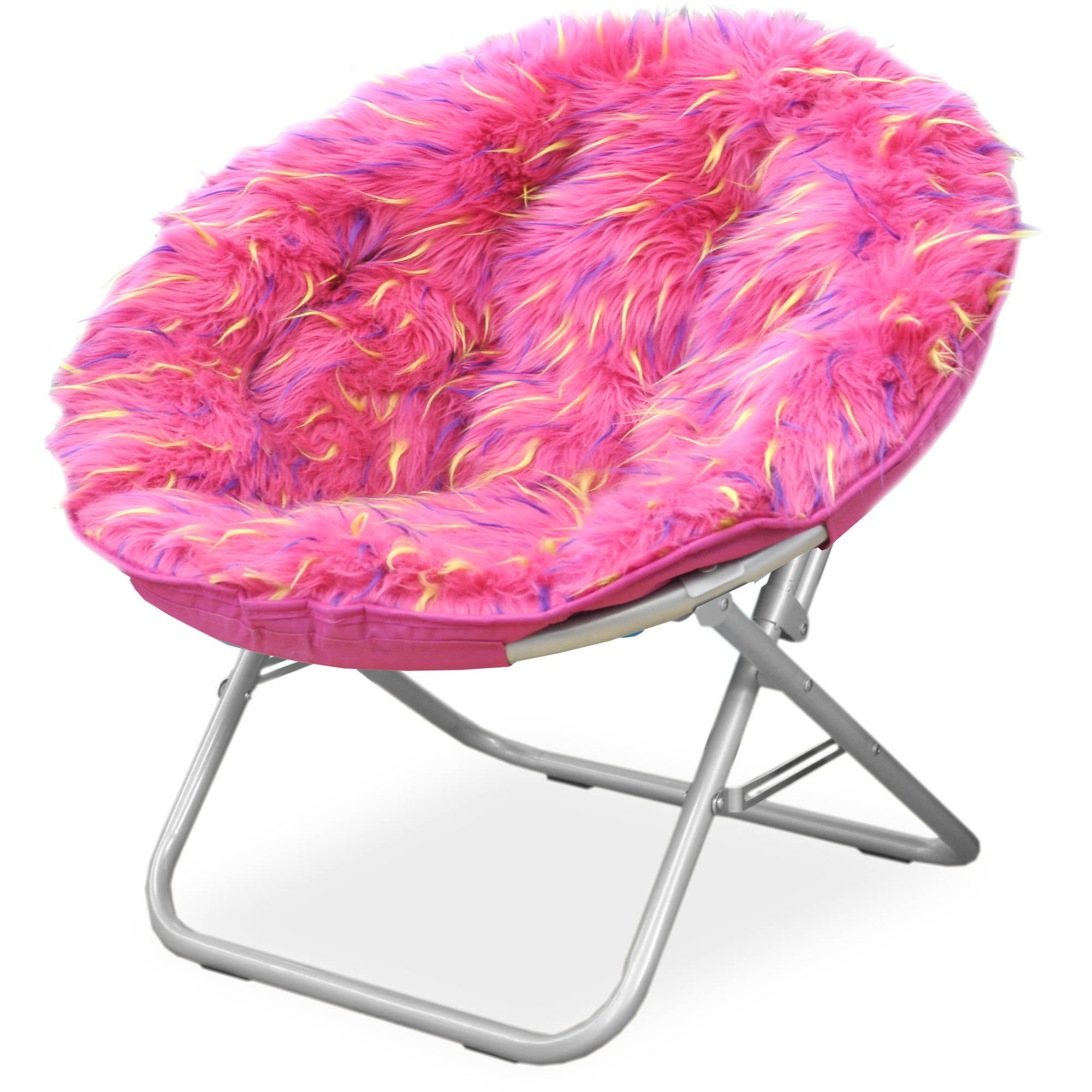 Gentil Your Zone Spiker Faux Fur Saucer Chair, Multiple Colors   Walmart.com
