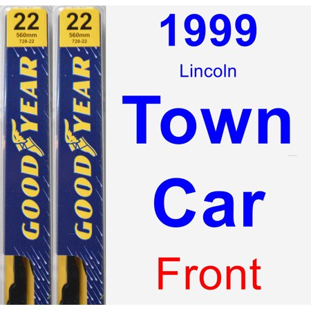 Blade Car (1999 Lincoln Town Car Wiper Blade Set/Kit (Front) (2 Blades) -)