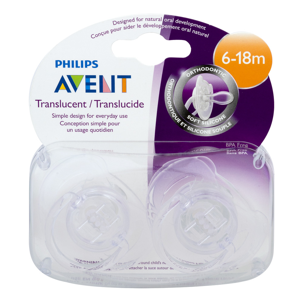 Philips Avent Orthodontic Pacifier 6-18m, 2.0 CT