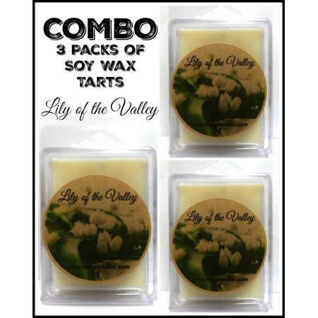 Combo Deal - 3 Packs of Lily of the Valley 3.2 Ounce Pack of Soy Wax Tarts - Scent Brick, Wickless Candle