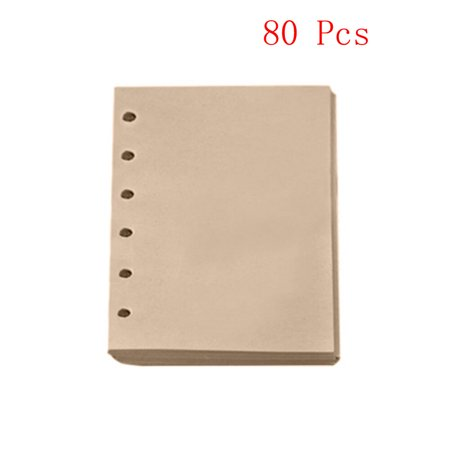 80 Sheets Notebook Refill Inner A6 Paper Pages Vintage Retro Kraft Paper - Kraft Paper Notebook