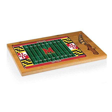 Maryland Terrapins - Icon Cutting Board/Tray and Knife Set by Picnic Time (Football Design) - image 1 de 1