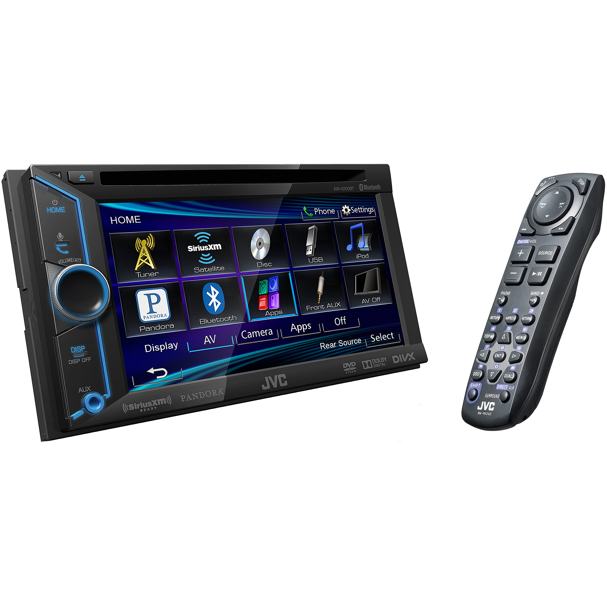 JVC Mobile KW-200BT DVD Receiver with Monitor