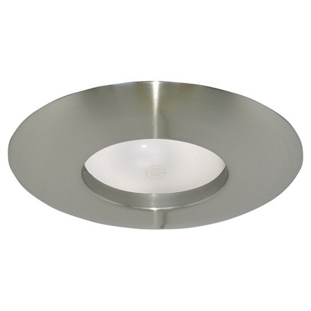 Design House 519546 Recessed Lighting Wide Trim 6 Formed Steel Satin Nickel Finish