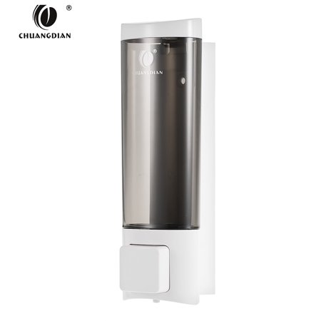 Chuangdian Manual Hand Soap Dispenser With Double Sided Foam Tape Wall Mount Liquid Shampoo Shower Gel Cleanser Washroom Lotion