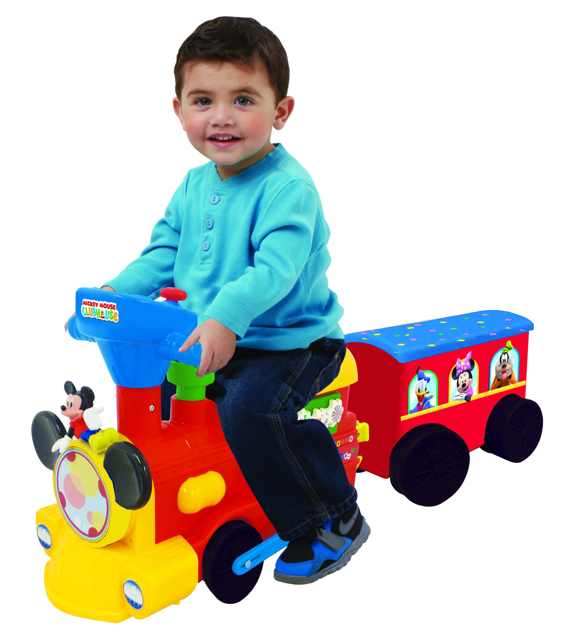 Disney Mickey Mouse 2-in-1 Battery-Powered Train with Trailer by Kiddieland