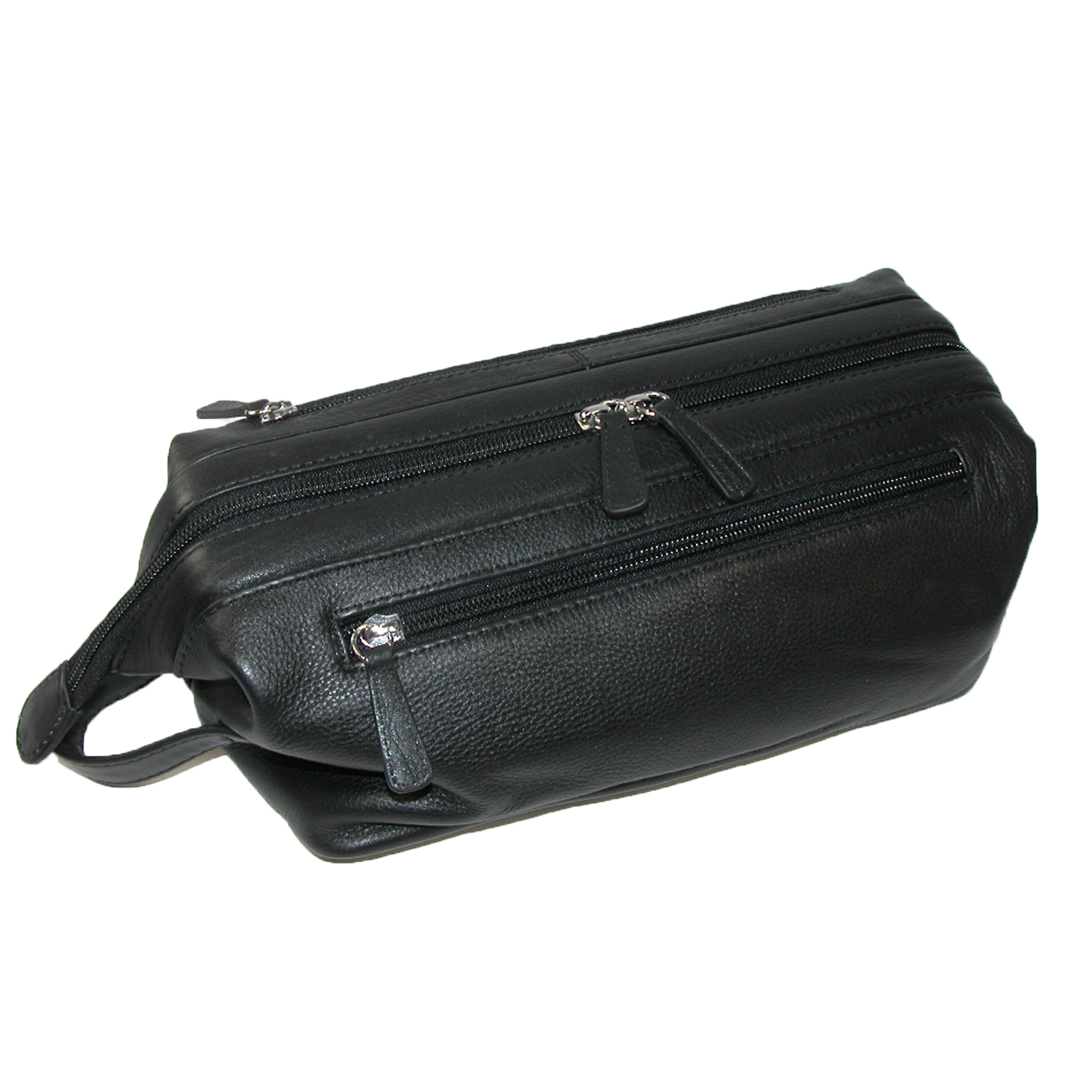 Ctm 174 Men S Leather Travel Toiletry Kit Walmart Com