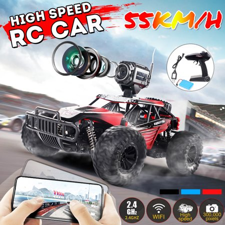 - HD Camera 300000 Pixels 4WD Remote Control Car 55KM/H High Speed WIFI RC Buggy Truck Off Electronic Electric Road Vehicle Racing Cross-Country High Speed Kids Toy Usb Kids Toy