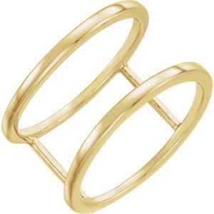 Jewels By Lux 14K Yellow Gold Freeform Ring Size 7 Size 7