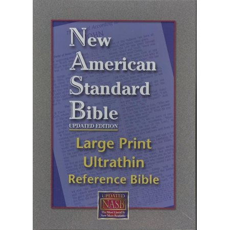 Ultrathin Reference Bible Large Print-NASB