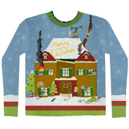 Long Sleeve: Elves Gone Wild Ugly Xmas Sweater Costume Tee Long