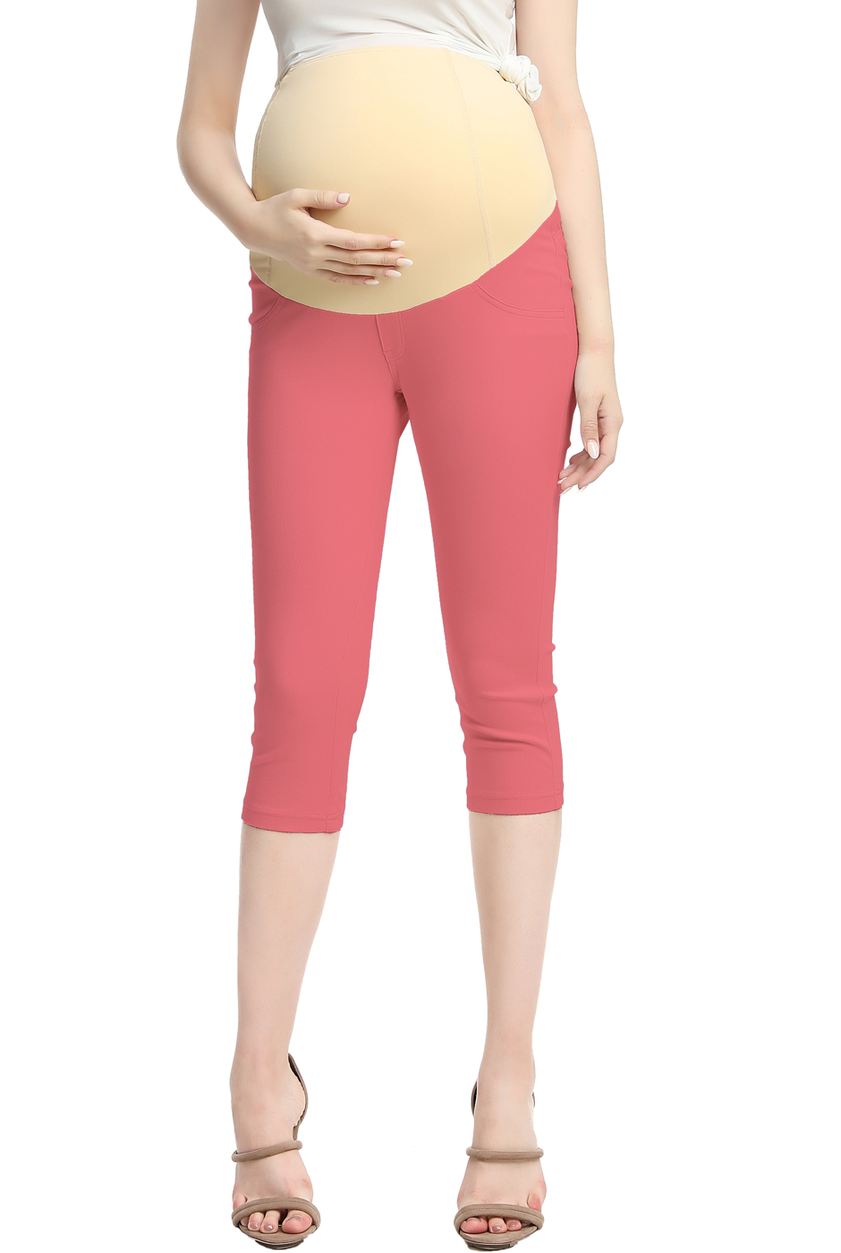 Maternity Women's Capri Jeggings - Coral M