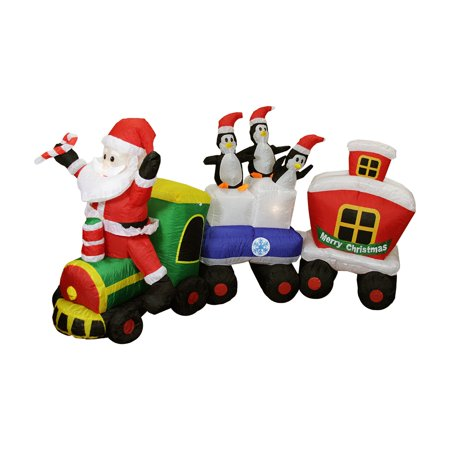 17'halloween Train Inflatable (Northlight 6 ft. Inflatable Santa Claus Train Lighted Christmas)