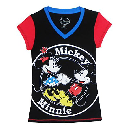 Disney -  P  Disney Womens  Mickey Mouse and Minnie Mouse Pajama Top ... f2153bfc7