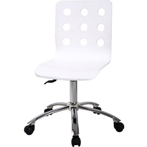your zone perforated task chair, white