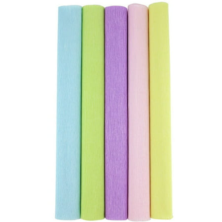 Just Artifacts Premium Crepe Paper Rolls - 8ft Length/20in Width (5pcs, Color: Pastels)](Crepe Paper Sheets)