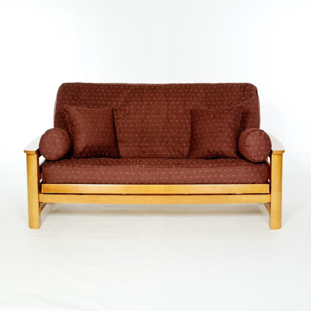 LS COVERS CLARET FULL FUTON COVER Full Size Fits 6 8in