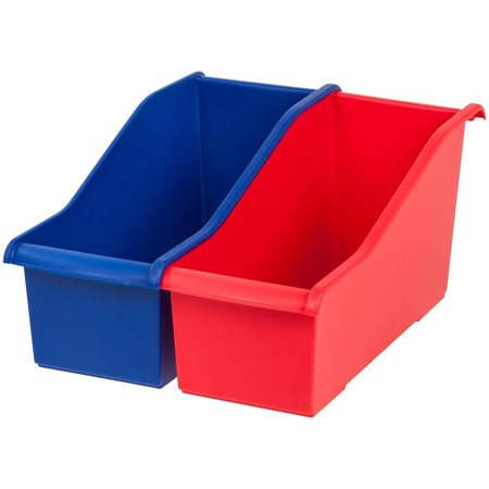 IRIS Plastic Connecting Book Bin, Multicolor Set of - Plastic Book Boxes