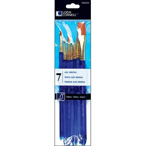 Loew-Cornell Taklon Craft Brush Set, 7-Pack
