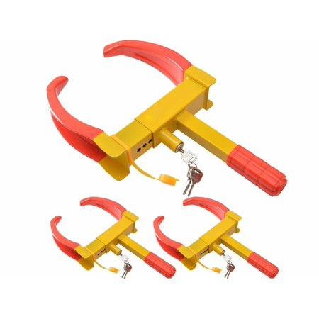 TMS 3pcs of Wheel Lock Clamp Boot Tire Claw Auto Car Truck RV Boat Anti-Theft Towing