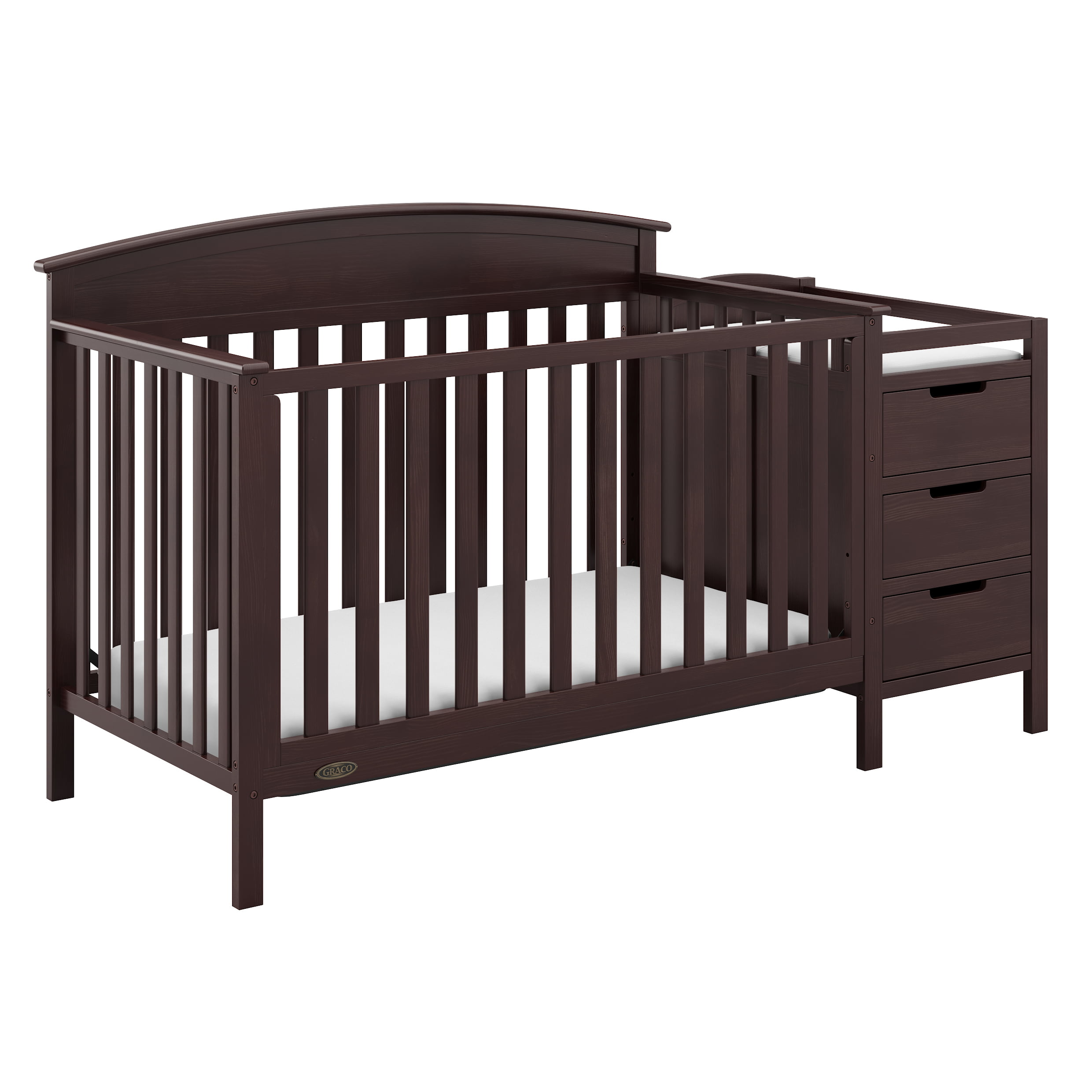 Graco Benton 5 in 1 Crib and Changer Black by Graco