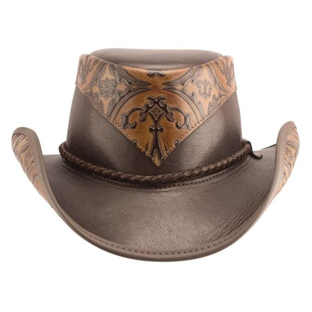 dbd8ccf3749 New American Hat Makers Falcon Western Leather Cowboy Hat - Walmart.com