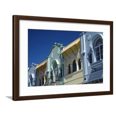 Art deco buildings, New Regent Street, Christchurch, Canterbury, South Island, New Zealand Framed Print Wall Art By David Wall