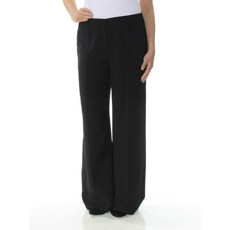 ALFANI Womens Black Pleated Wide Leg Wear To Work Pants  Size: 4