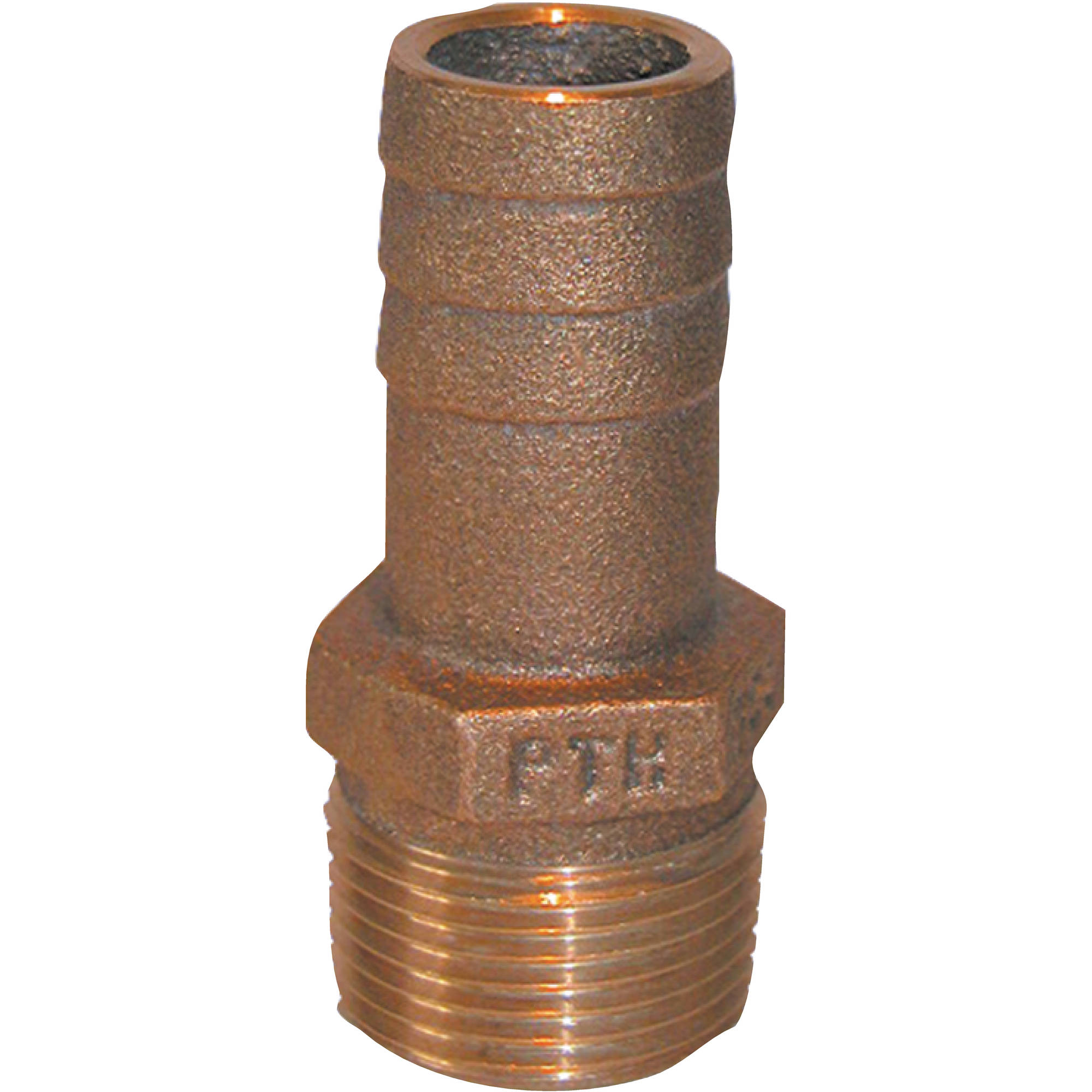Groco PTH Bronze Standard Flow Pipe-to-Hose Adapter with NPT Thread