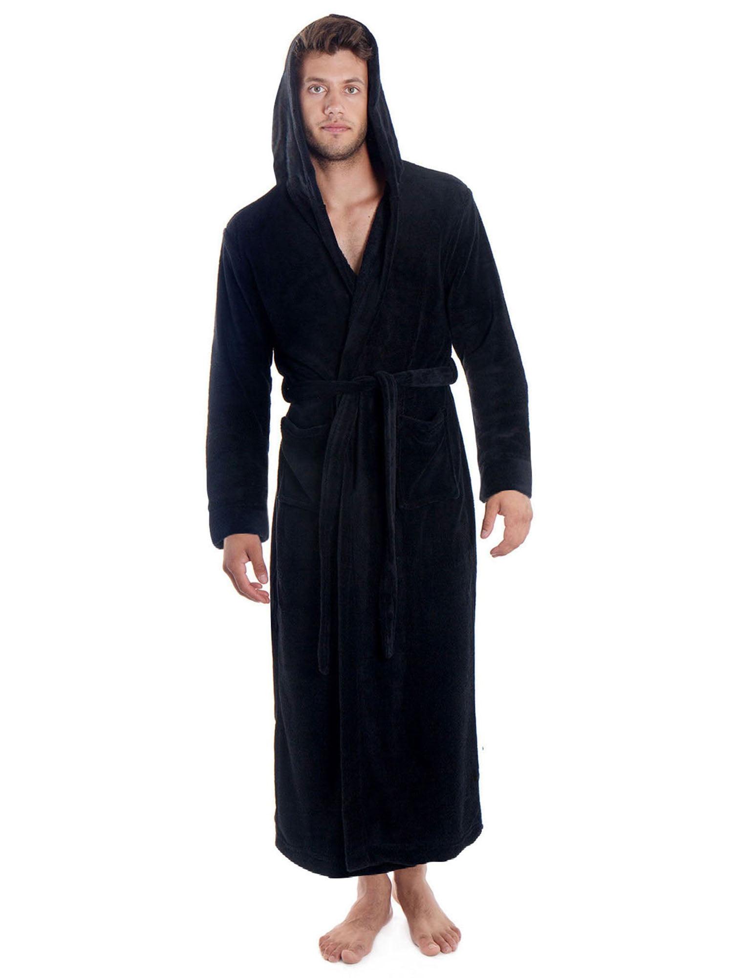 Unisex Hooded Bath Robe in White Sizes XL 2XL 3XL