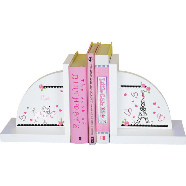 Personalized French Paris Childrens Bookends