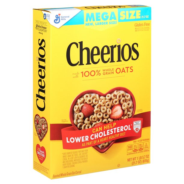 Cheerios, Gluten Free, Cereal with Whole Grain Oats, 21.7 ...