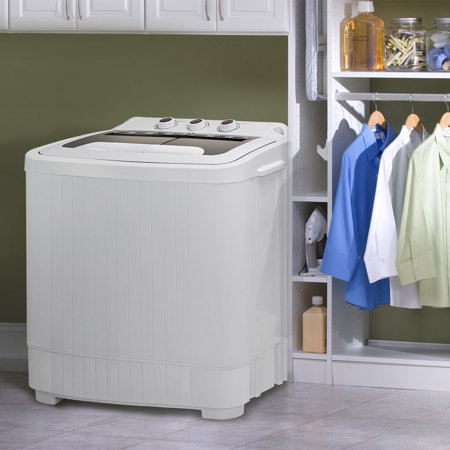 Barton Twin Tub Compact Washer and Spinner Dry Cycle with (Built in Drain Pump) Wash Spin Dryer Built In Drain Pump