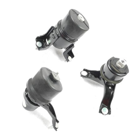 (MaxBene Fits: 2002-2008 Toyota Camry Solara 2.4L/3.0L Engine Motor & Trans Mount Kit 3PCS for Auto Transmission 02 03 04 05 06 07 08 A4203 A4211 A4207)