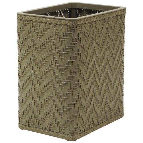 Redmon Elegante Decorator Wicker Wastebasket