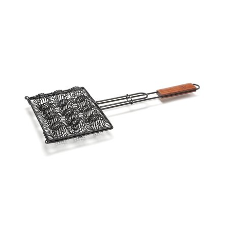 - Outset Non-Stick Meatball Basket with Rosewood Handle