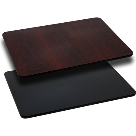 "Flash Furniture 24"" x 30"" Rectangular Table Top with Reversible Laminate Top, Multiple Colors"