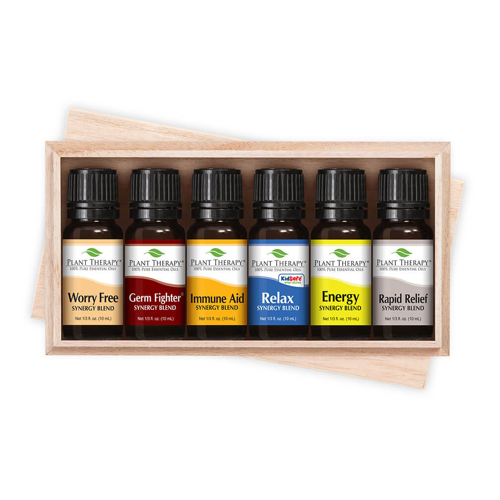 Plant Therapy Top 6 Synergies Set | Essential Oil Blends For Sleep, Stress, Muscle Relief, Energy, Health | 10 mL