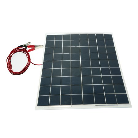 30W 12V Semi Flexible Solar Panel Device Battery Charger Monocrystalline Silicon - image 3 of 7