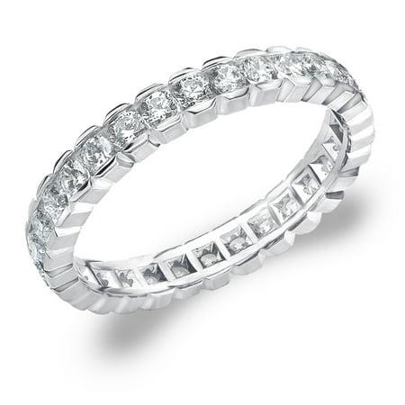 - 1 CT Diamond, 1 CT Diamond Eternity Anniversary Ring in White Gold