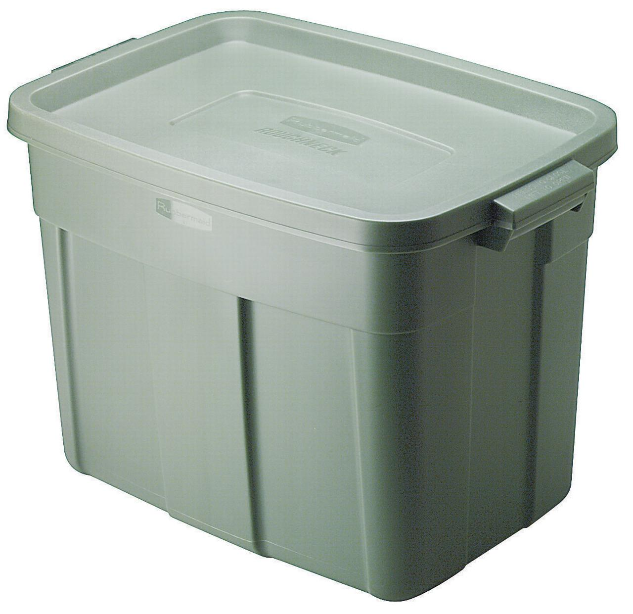 Roughneck FG2215CPSTEEL Storage Tote Box, 18 gal, 23.9 in L x 15.9 in W x 16-1/2 in H, Polyethylene
