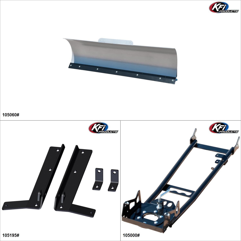 KFIProducts - ATV Plow kit - 60'', John Deere Buck 650 2006 Black / Silver  #KK00002314_6