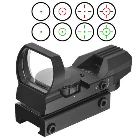 Optics Compact Reflex Red Green Dot Sight Scope 4 Reticle For Hunting