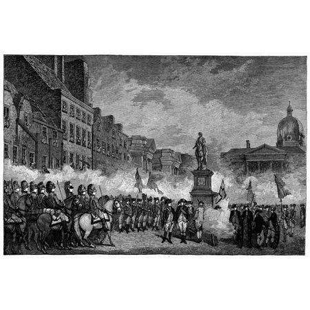 Ireland Rebellion 1798 Nthe Dublin Volunteers Saluting The Statue Of William Iii On College Green November 4 1798 At The End Of The Irish Rebellion Line Engraving Late 19Th Century Rolled Canvas Art
