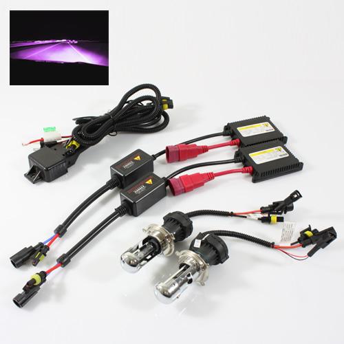 ModifyStreet® H4-3/9003-3/HB2-3 35W Slim AC Ballast Bi-Xenon Hi/Low Dual Beam HID Conversion Kit - 12000K Violet Pink